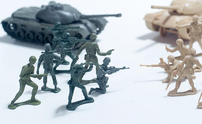 殲滅作戦をイメージさせる戦争フィギュア
