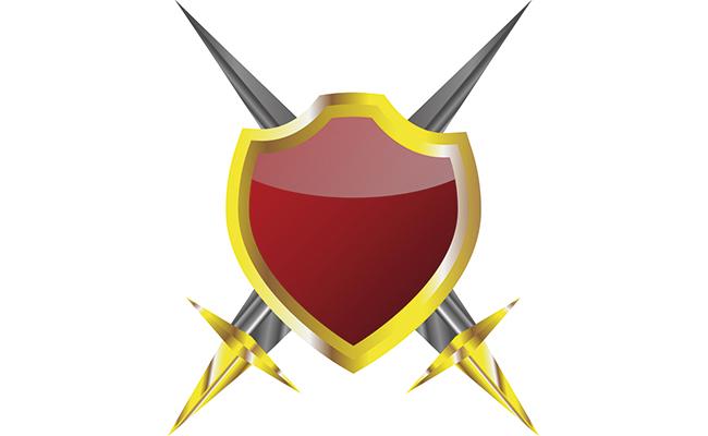 防御力が高い盾のイラスト